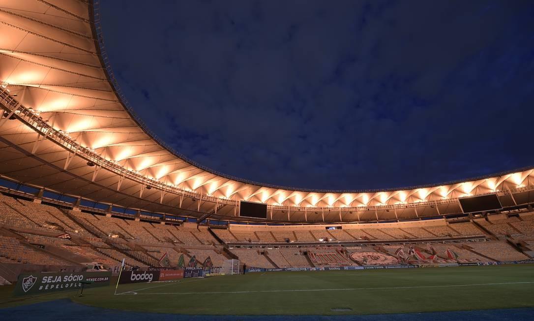Maracanã terá 10% da capacidade autorizada para final da Libertadores Foto: ALEXANDRE LOUREIRO / REUTERS