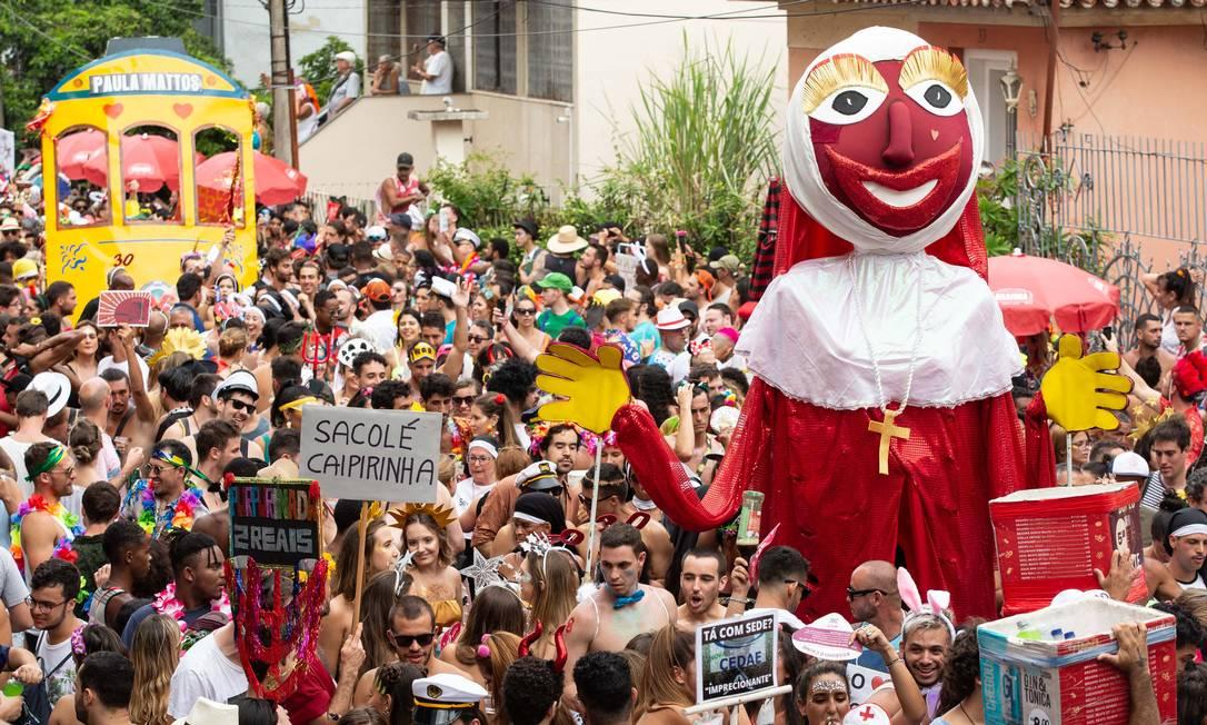 Bloco Carmelitas numa época em que aglomerar era possível Foto: Fernando Maia / Riotur/Divulgação