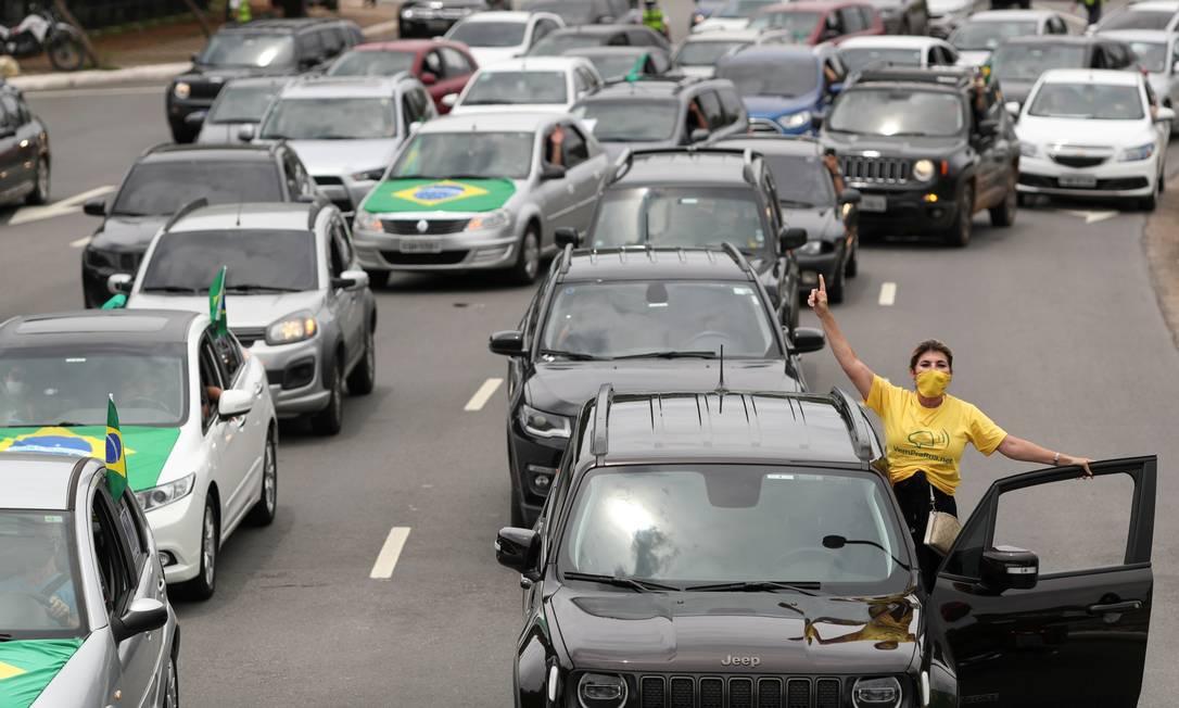Carreata contra o presidente Jair Bolsonaro é realizada em São Paulo Foto: Amanda Perobelli/Reuters/24-01-2021