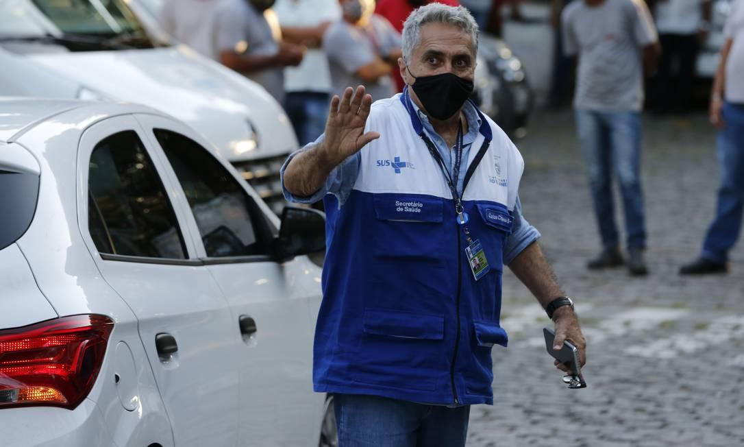 O secretário estadual de Saúde, Carlos Alberto Chaves Foto: Roberto Moreyra / Agência O Globo / 18-01-2021