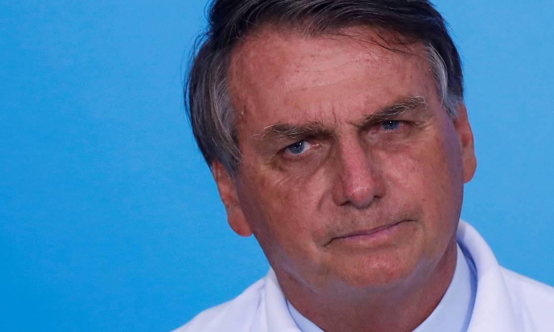Jair Bolsonaro durante cerimônia no Palácio do Planalto Foto: ADRIANO MACHADO / REUTERS