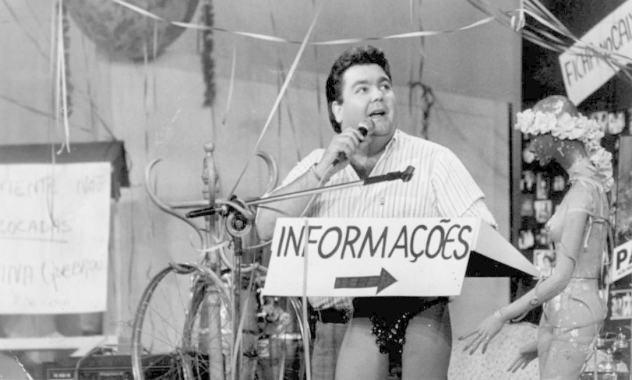 """O apresentador Fausto Silva na época do """"Perdidos na noite"""", sucesso da década de 1980 Foto: Arquivo"""