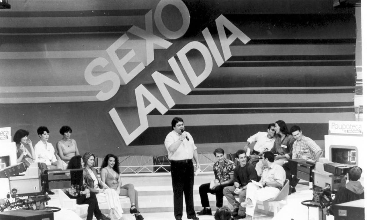 """Quadro """"Sexolândia"""" expunha a intimidade de atrizes e atores (1993) Foto: TV Globo / Divulgação"""