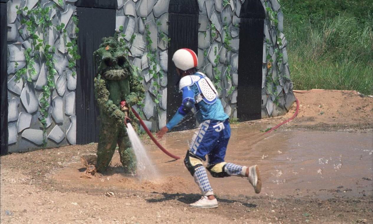"""A """"Porta da sacanagem"""", uma das provas que fez parte das """"Olimpíadas do Faustão"""" Foto: Irineu Barreto Filho /"""
