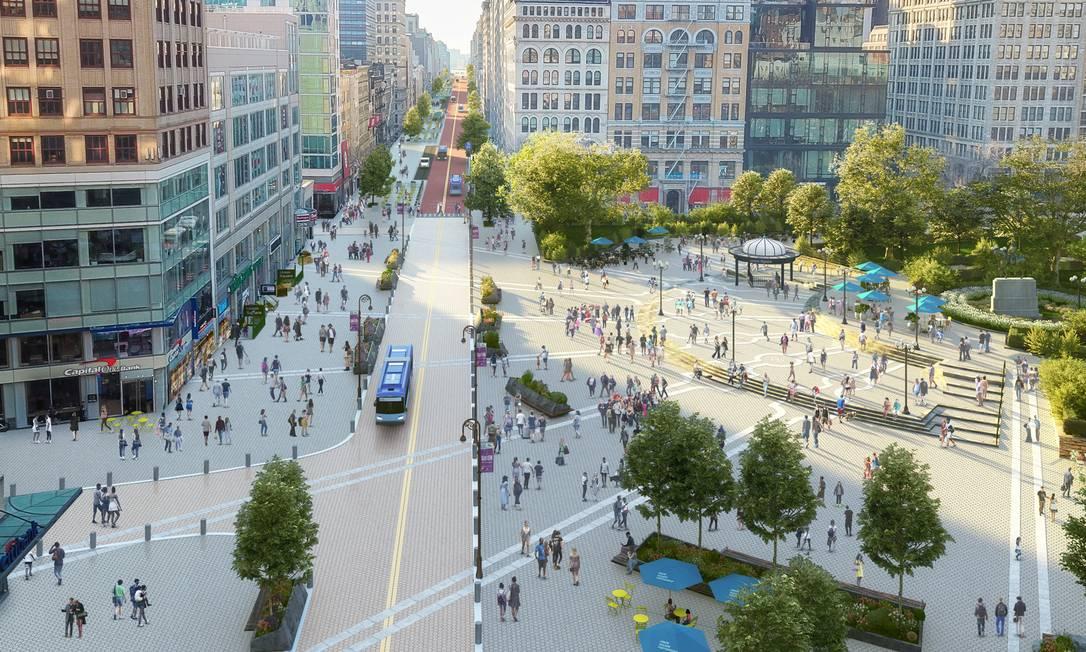 Projeto da Union Square Foto: Divulgação/Marvel/Union Square Partnership