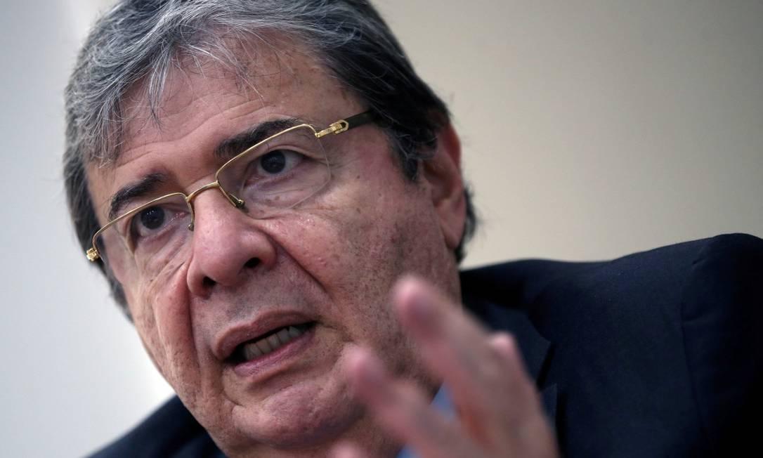 Carlos Holmes Trujillo morre por pneumonia ligada ao coronavírus. Foto: LUISA GONZALEZ / REUTERS