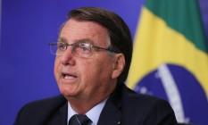 O presidente Jair Bolsonaro participa de evento com investidores Foto: Marcos Corrêa/Presidência