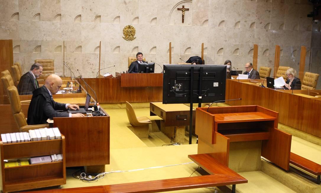 Sessão de encerramento de ano judiciário do STF Foto: Foto: Nelson Jr./SCO/STF (18/12/ / Agência O Globo