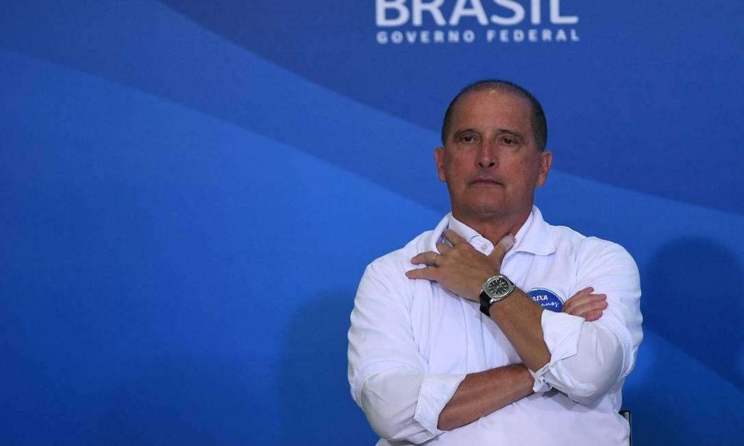 O ministro Onyx Lorenzoni Foto: Fatopress/12-1-2021 / Agência O Globo