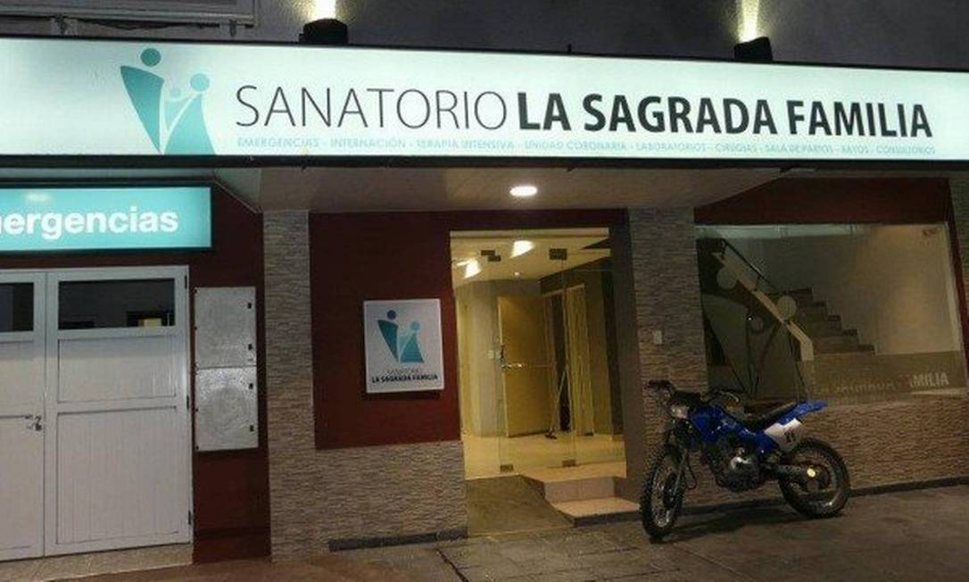 Sanatorio La Sagrada Familia, na Argentina, onde a idosa ficou internada Foto: Reprodução