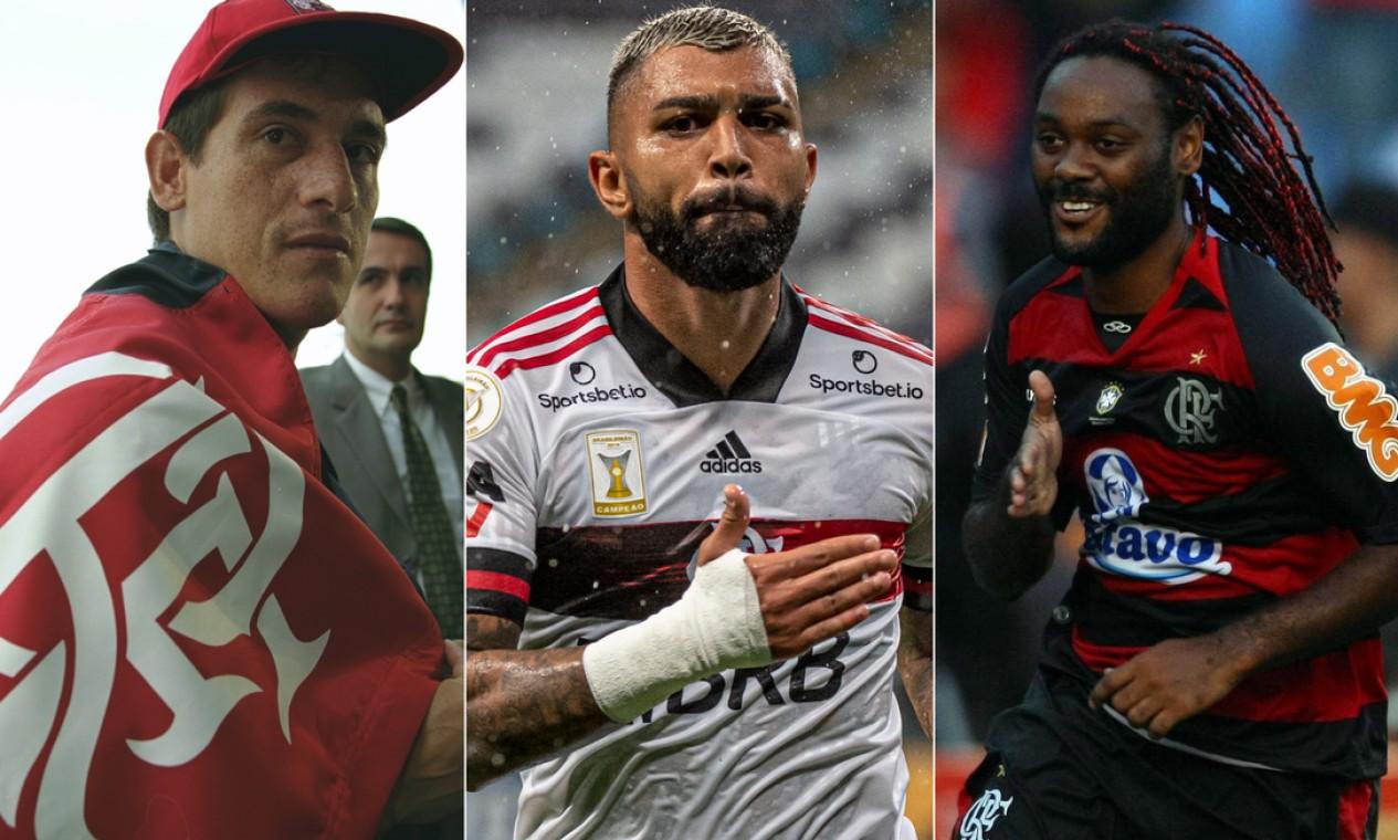 As contratações mais caras da história do Flamengo Foto: Hipólito Pereira, Alexndre Vidal/Flamengo e Cezar Loureiro