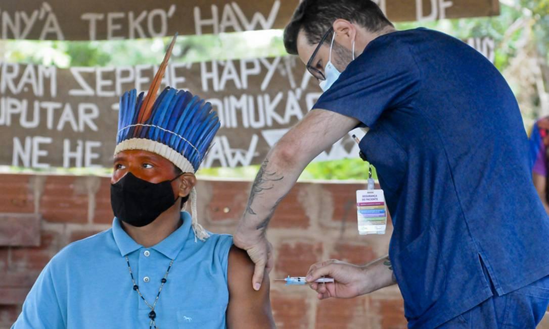 Número de indígenas vacinados no país ainda não está claro Foto: Geovana Albuquerque/Agência Saúde DF