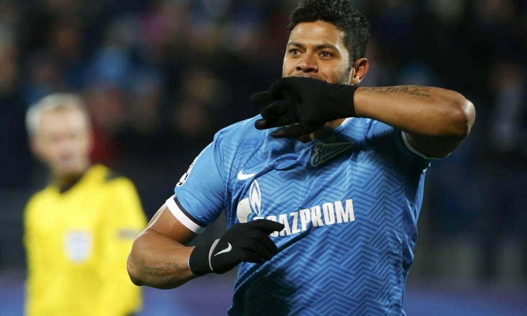 Hulk pelo Zenit, da Rússia, em 2015. Ele defendeu o clube de 2012 a 2016. Foto: Grigory Dukor / Reuters