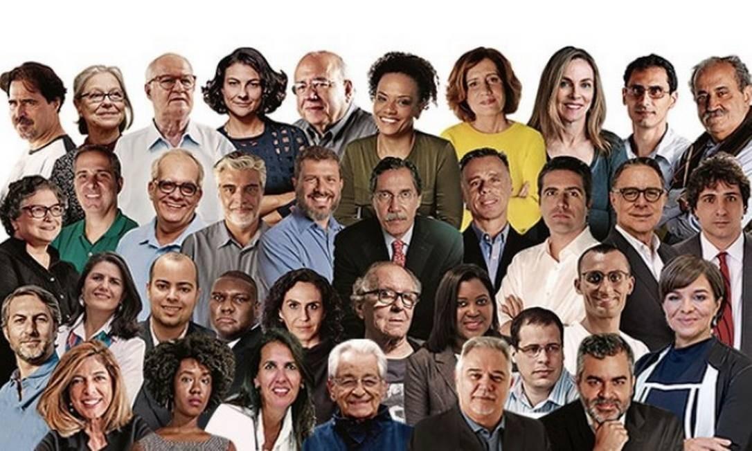 A melhor seleção do mundo: o time de colunistas do GLOBO Foto: Arte O Globo