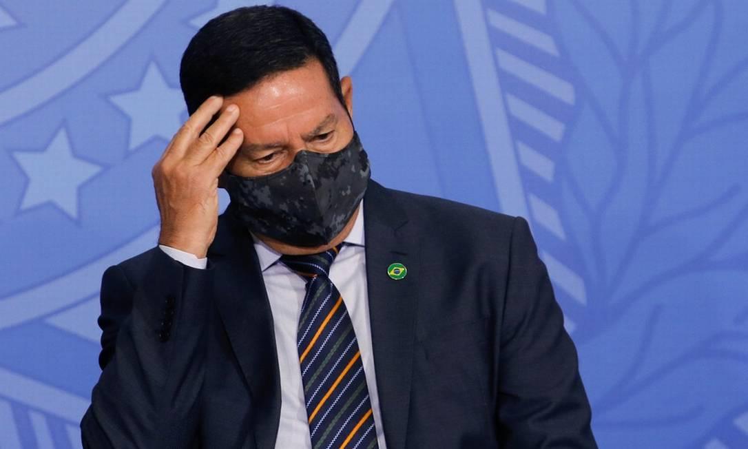 o vice-presidente Hamilton Mourão Foto: Infoglobo