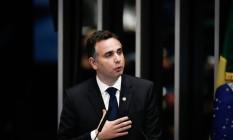 Rodrigo Pacheco (DEM-MG) foi eleito presidente do Senado Foto: Pablo Jacob / Agência O Globo