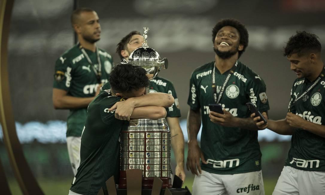 Palmeiras venceu a Libertadores e se classificou ao Mundial Foto: Guito Moreto / Agência O Globo