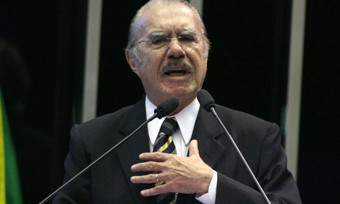 José Sarney (MDB-AM). Presidiu de 2009 a 2013 Foto: Ailton de Freitas / Agência O Globo - 05/08/2009