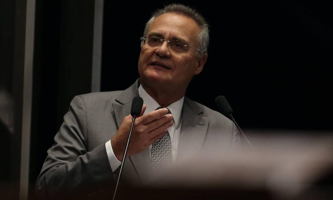 Renan Calheiros (MDB-AL). Presidiu de 2013 a 2017 Foto: Givaldo Barbosa / Agência O Globo - 28/06/2017