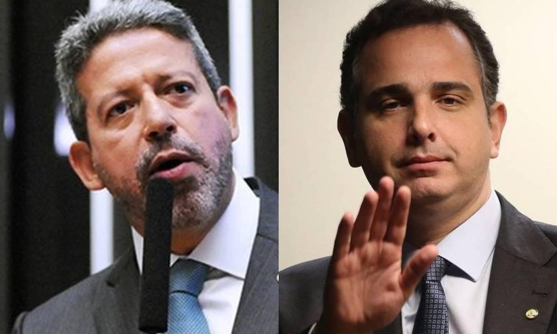 Os presidentes da Câmara, Arthur Lira, e do Senado, Rodrigo Pacheco Foto: Agência O Globo