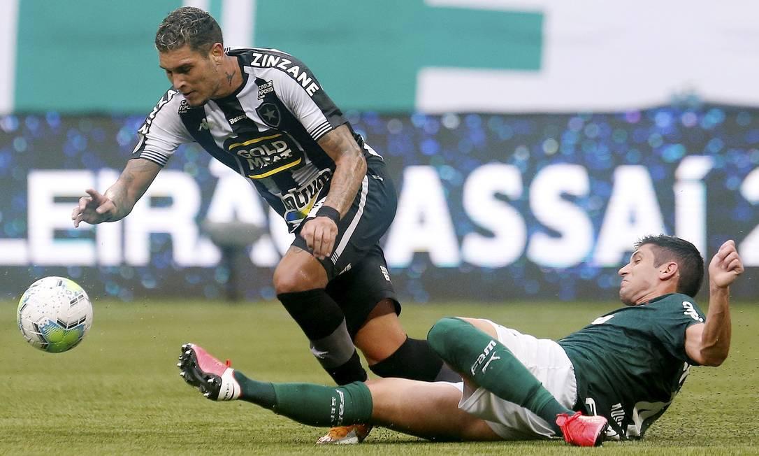 Rafael Navarro foi um dos destaques do Botafogo no Allianz Parque Foto: Vitor Silva/Botafogo