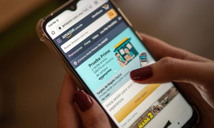 Amazon criou a tecnologia de compra com 1-Clique, quando o pedido é processado automaticamente sem passar pelo carrinho de compras Foto: Alejandro Cegarra / Bloomberg