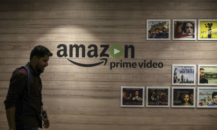 A Amazon criou seu próprio serviço de streaming para concorrer com Netflix. Para isso, passou a investir em conteúdo e criou o Prime Video Foto: Dhiraj Singh / Bloomberg