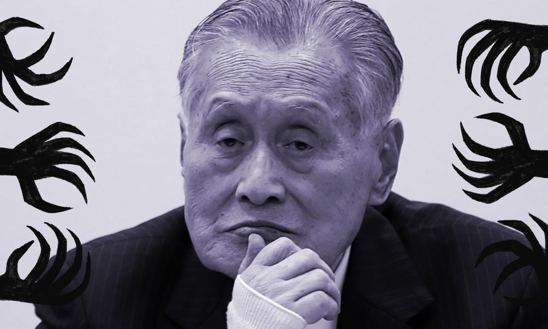 Em reunião com presença da imprensa, Yoshiro Mori, presidente do comitê organizador dos Jogos Olímpicos de Tóquio, fez declarações sexistas (foto: 24/03/2020) Foto: Behrouz MEHRI / AFP