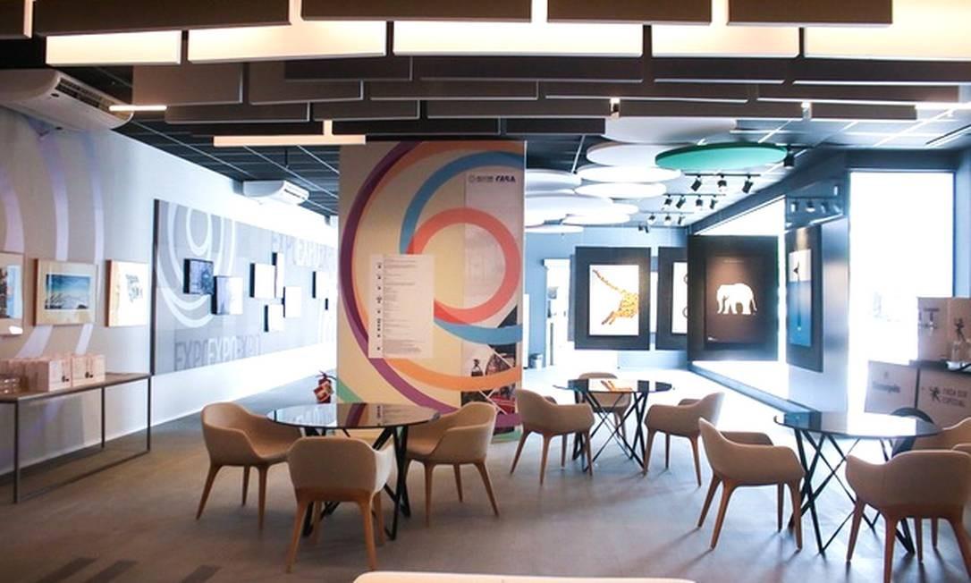 Área de coworking do espaço da UIA2021RIO no CasaShopping Foto: Divulgação / CasaShopping