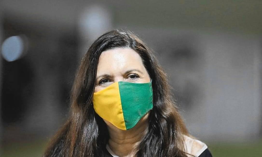Deputada Bia Kicis (PSL-DF), que pode presidir a Comissão de Constituição e Justiça (CCJ), a mais importante da Câmara. Foto: DIDA SAMPAIO/ESTADÃO CONTEÚDO