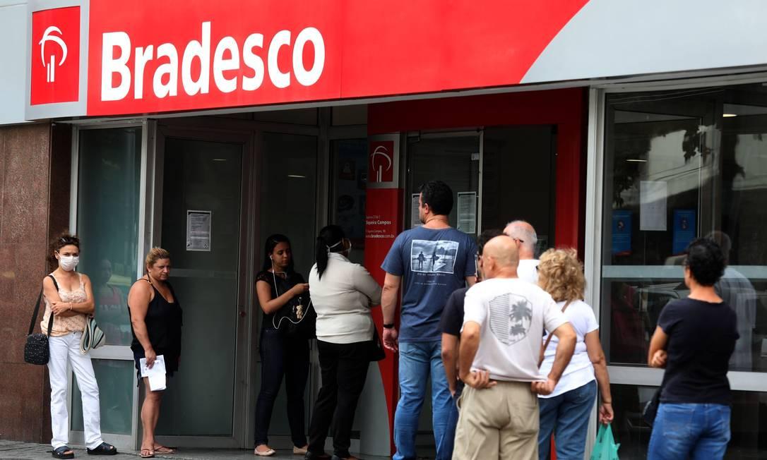 Bradesco lucrou R$ 6,3 bilhões no segundo trimestre deste ano Foto: Fábio Motta / Agência O Globo