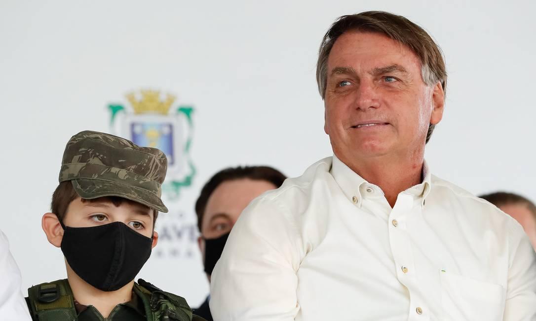 O presidente Jair Bolsonaro participa de inauguração no Paraná Foto: Alan Santos/Presidência