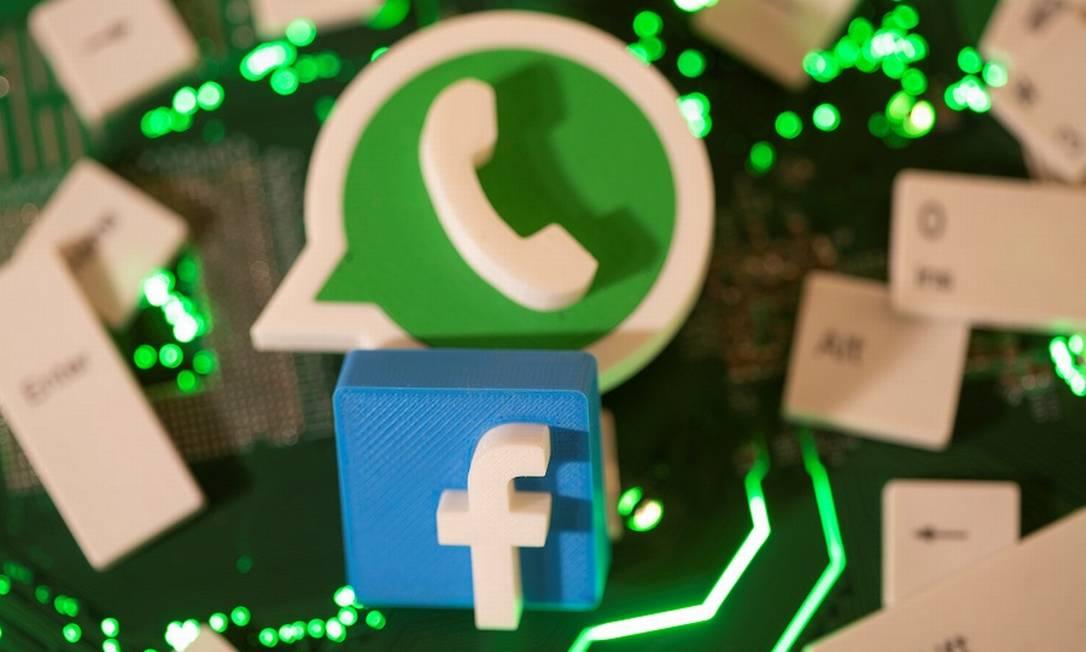 Facebook e WhatsApp: questionamentos sobre privacidade Foto: DADO RUVIC / REUTERS