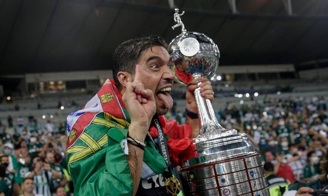 Abel Ferreira ganhou a Libertadores pelo Palmeiras Foto: RICARDO MORAES / AFP