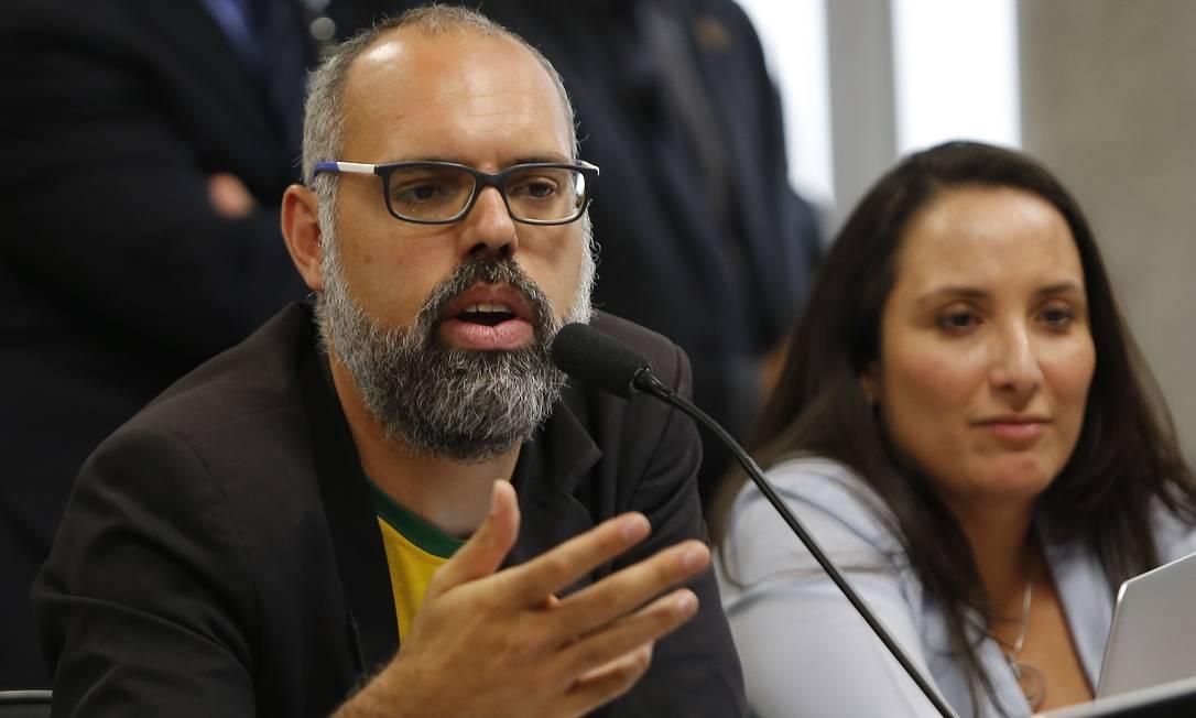 Allan dos Santos, do blog bolsonarista Terça Livre Foto: Jorge William/Agência O Globo