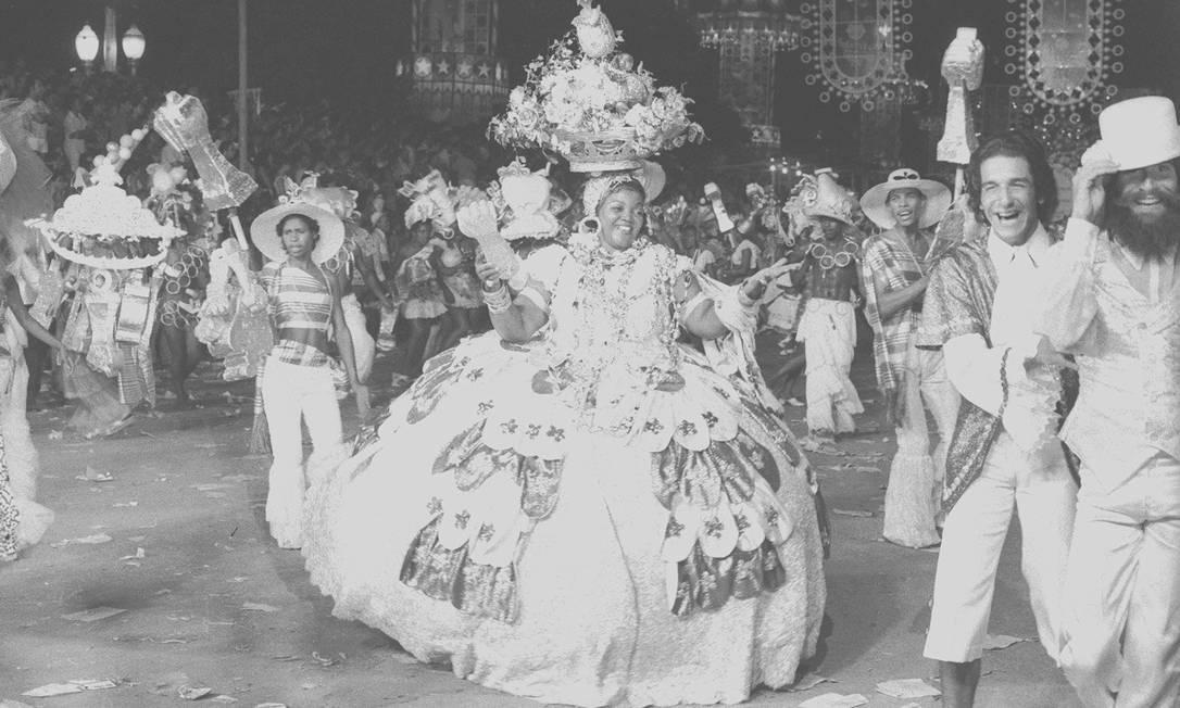 Dona Ivone Lara, a baiana das baianas no desfile de 1972 do Império Serrano Foto: Eurico Dantas / Agência O Globo - 13.02.1972