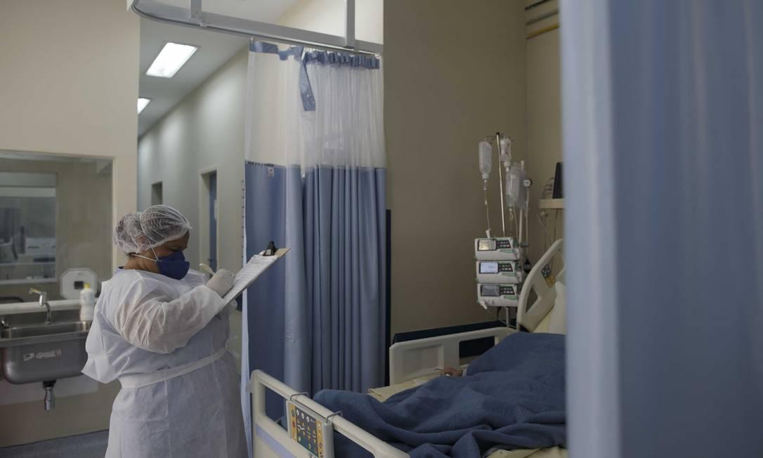 Foto da UTI para Covid-19 do Hospital Universitário Pedro Ernesto em 18 de dezembro de 2020 Foto: Márcia Foletto / Agência O Globo
