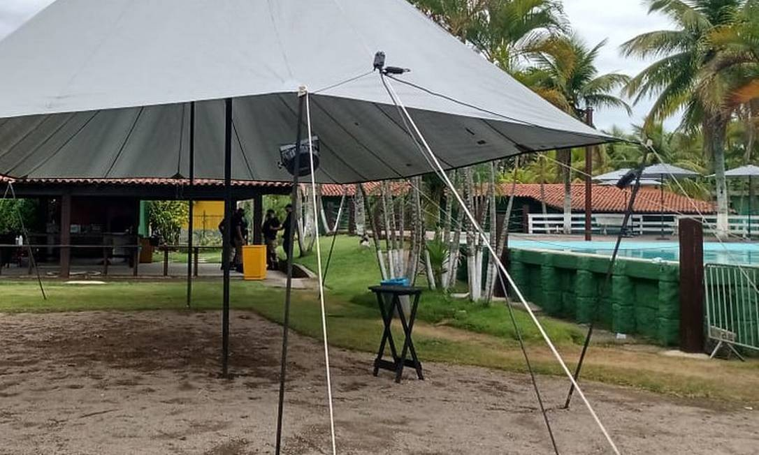 Pool party interditada pela prefeitura Foto: Divulgação/Seop