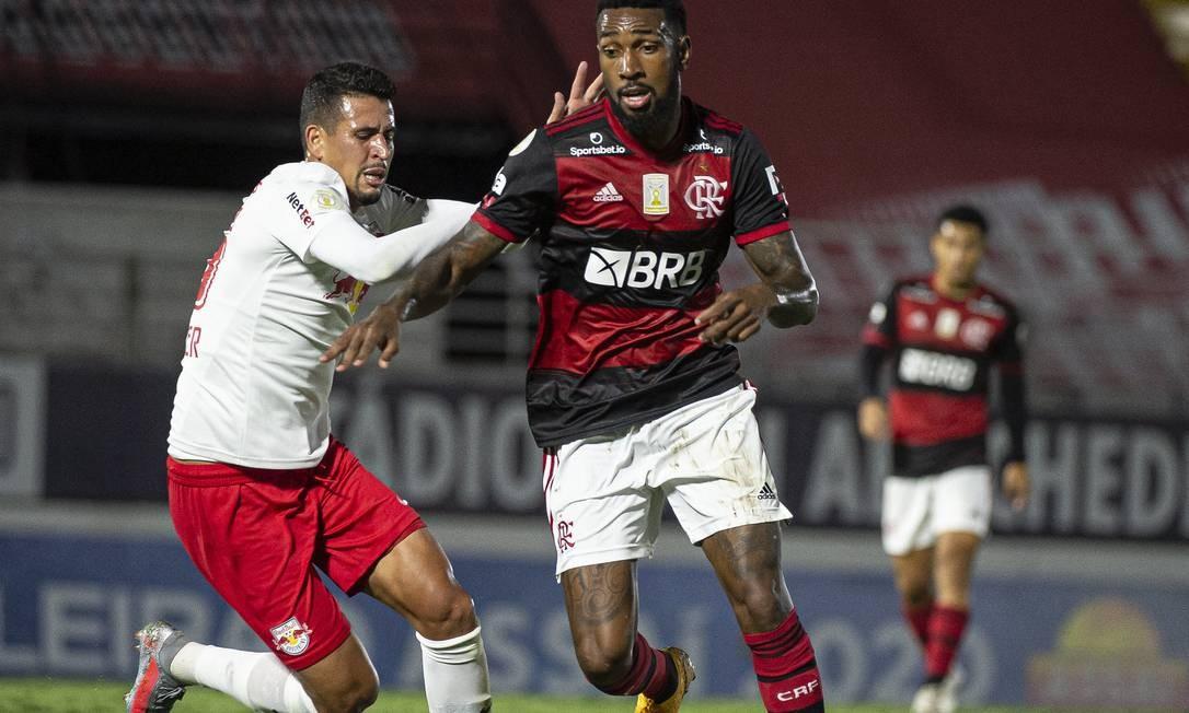 Gerson foi um dos melhores em campo, mas sua atuação não foi suficiente para garantir a vitória Foto: Alexandre Vidal / Flamengo