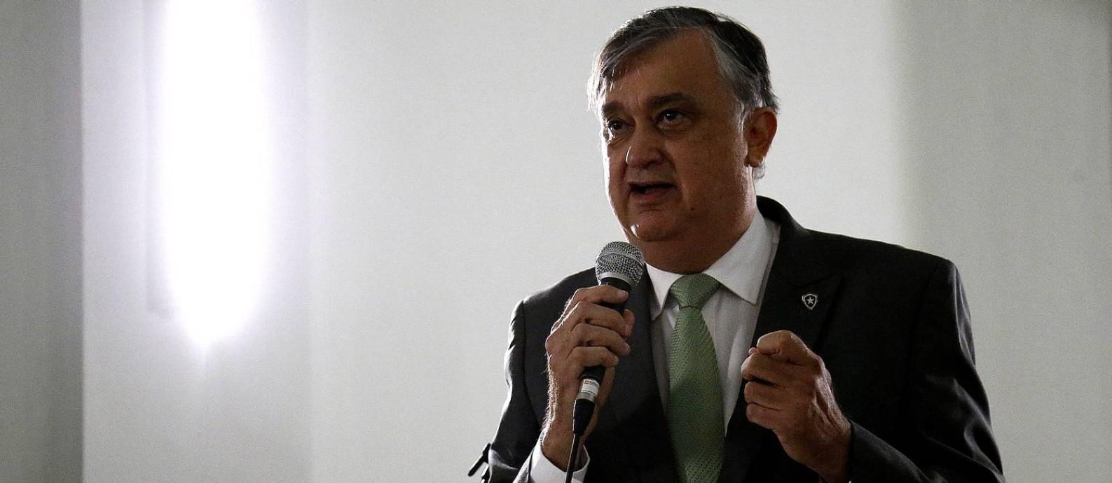 Durcesio Mello, presidente do Botafogo Foto: Vitor Silva/Botafogo