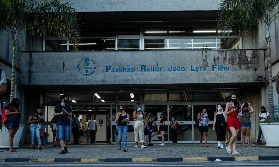 Uerj recebeu o Enem, prova aplicada pelo governo federal Foto: Brenno Carvalho / Agência O Globo