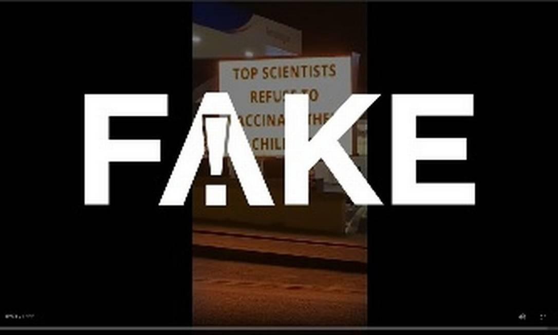 É #FAKE que governo irlandês colocou placa luminosa contra máscaras e vacinas em pedágio Foto: Reprodução