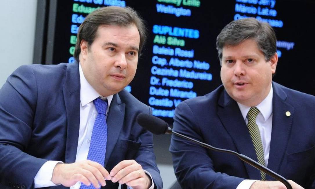 Os deputados Rodrigo Maia (DEM) e Baleia Rossi (MDB) Foto: Cleia Viana/Câmara dos Deputados