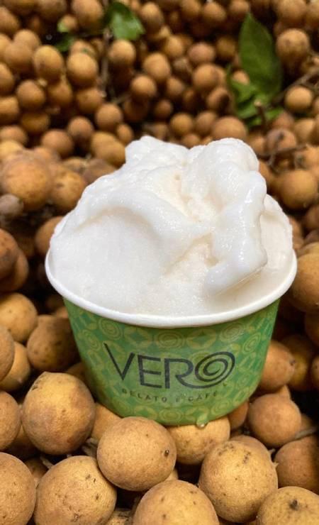 Vegano. O sorvete de pitomba da Vero é uma das estrelas do verão da marca. Entre R$ 9 e R$ 64 (700ml) Foto: Divulgação