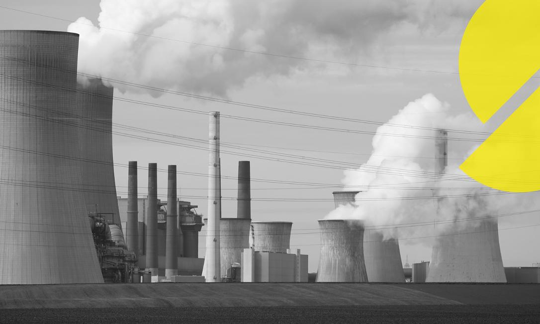 Unidades de energia movidas a carvão de uma das maiores empresas de eletricidade da Europa em Neurath, na Alemanha, em 2019 Foto: WOLFGANG RATTAY / Reuters