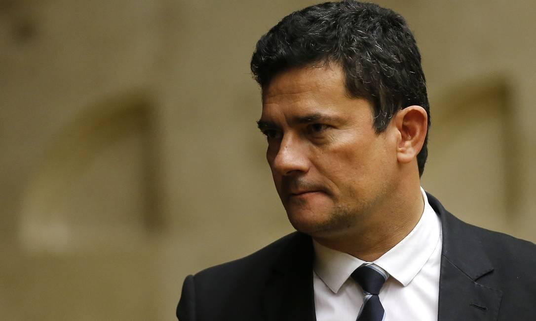 O ex-ministro da Justiça Sergio Moro Foto: Jorge William/Agência O Globo