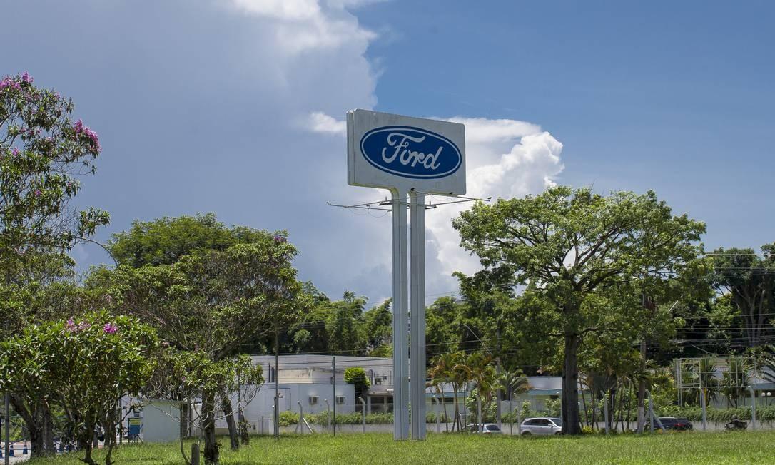 Sede da Ford em Taubaté, fechada após anúncio da empresa Foto: Edilson Dantas / Agência O Globo