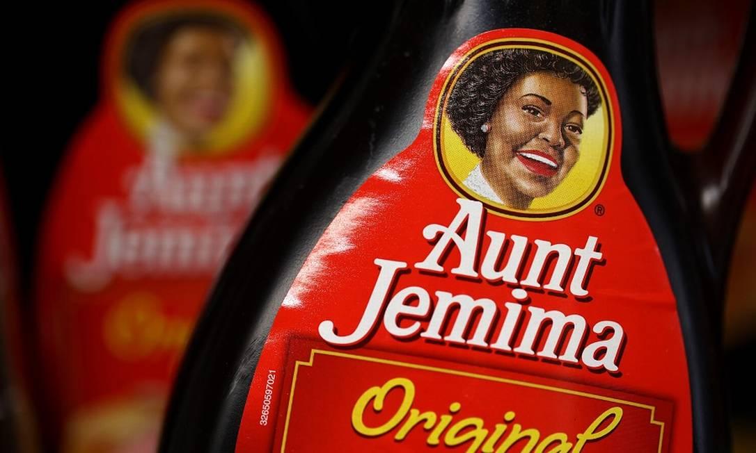 Molho para panqueca Aunt Jemima: marca abandonada pela Pepsi Foto: JUSTIN SULLIVAN / AFP