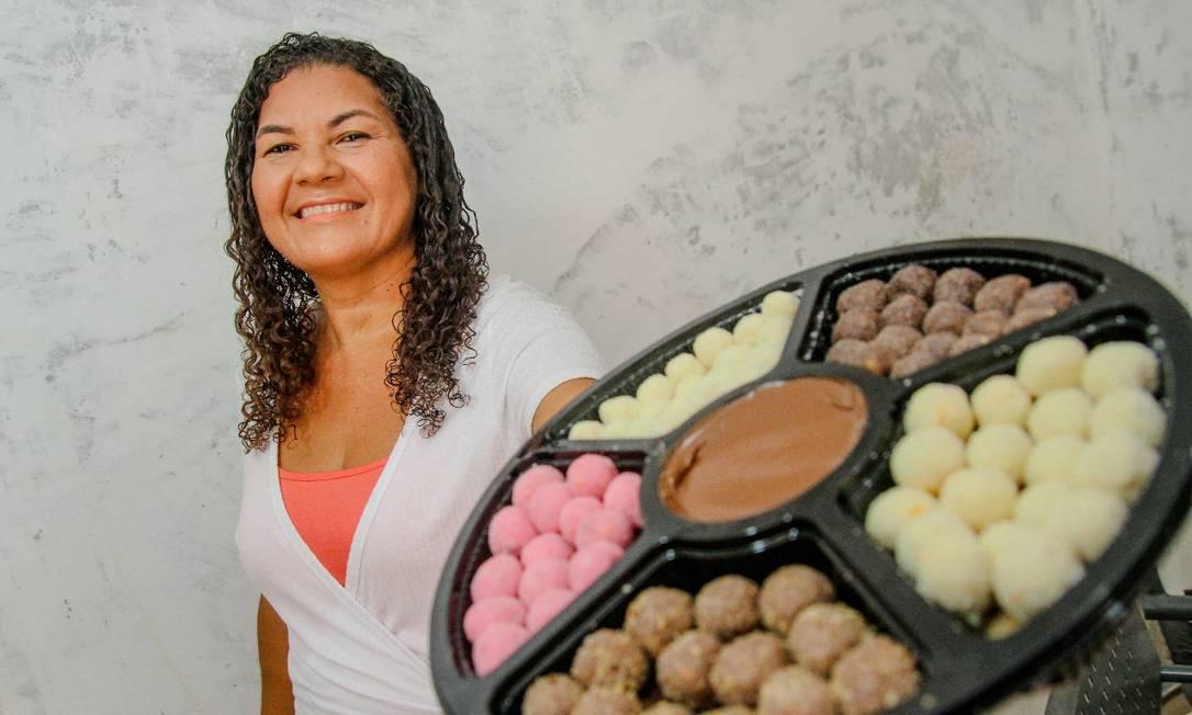 Alessandra Costa é confeiteira e faz pipocas gourmet Foto: Divulgação/Bruno Itan