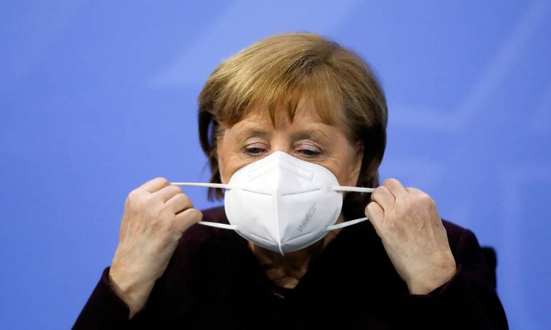 Angela Merkel anuncia prorrogação de lockdown na Alemanha pela terceira vez Foto: POOL / REUTERS